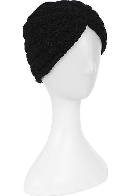 Collectif Milla strikket turban sort