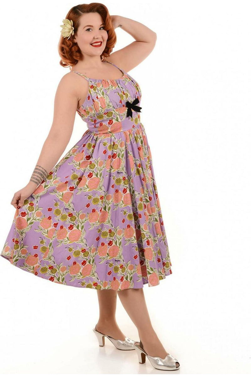Pinup Girl Clothing Ella Dress Lips n roses