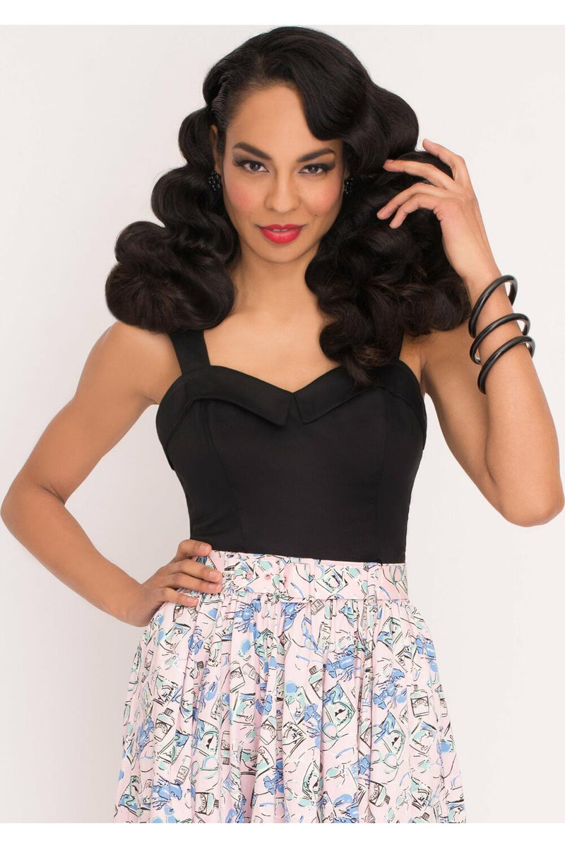 Miss Nouvelle Hubba hubba pinup topp Sort