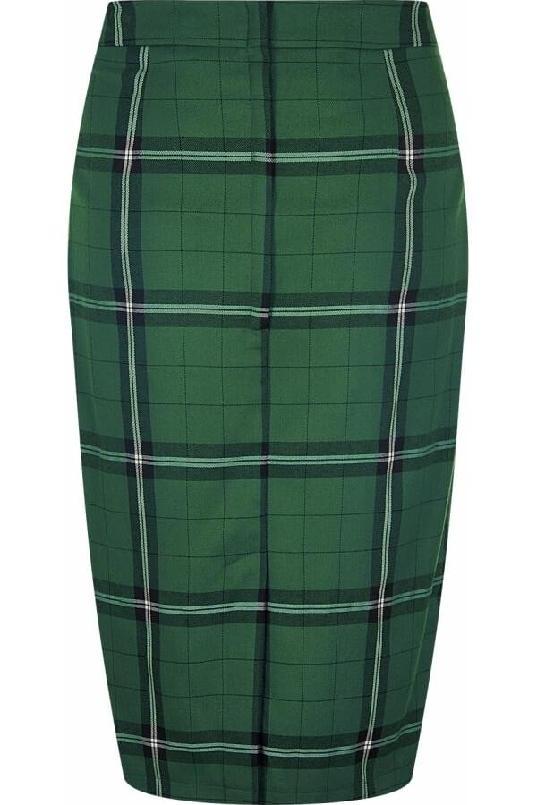 Collectif Polly pencil skirt Evergreen