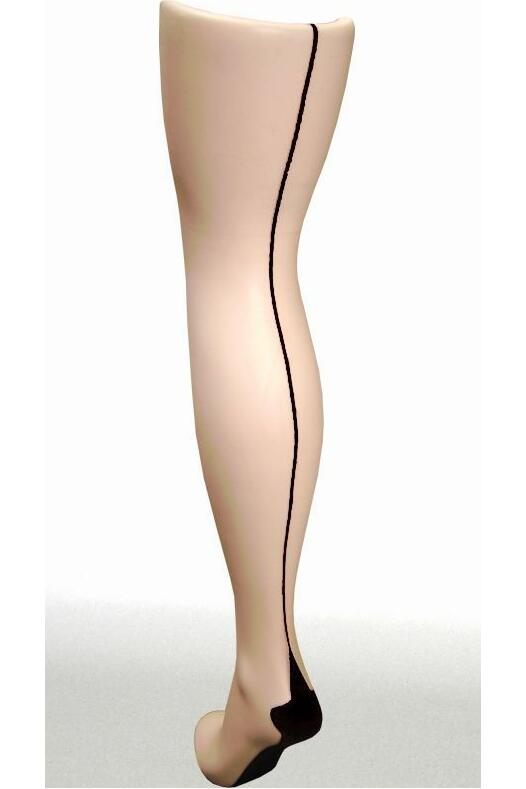 Pamela Mann Jive Seamed Tights Nude/sort