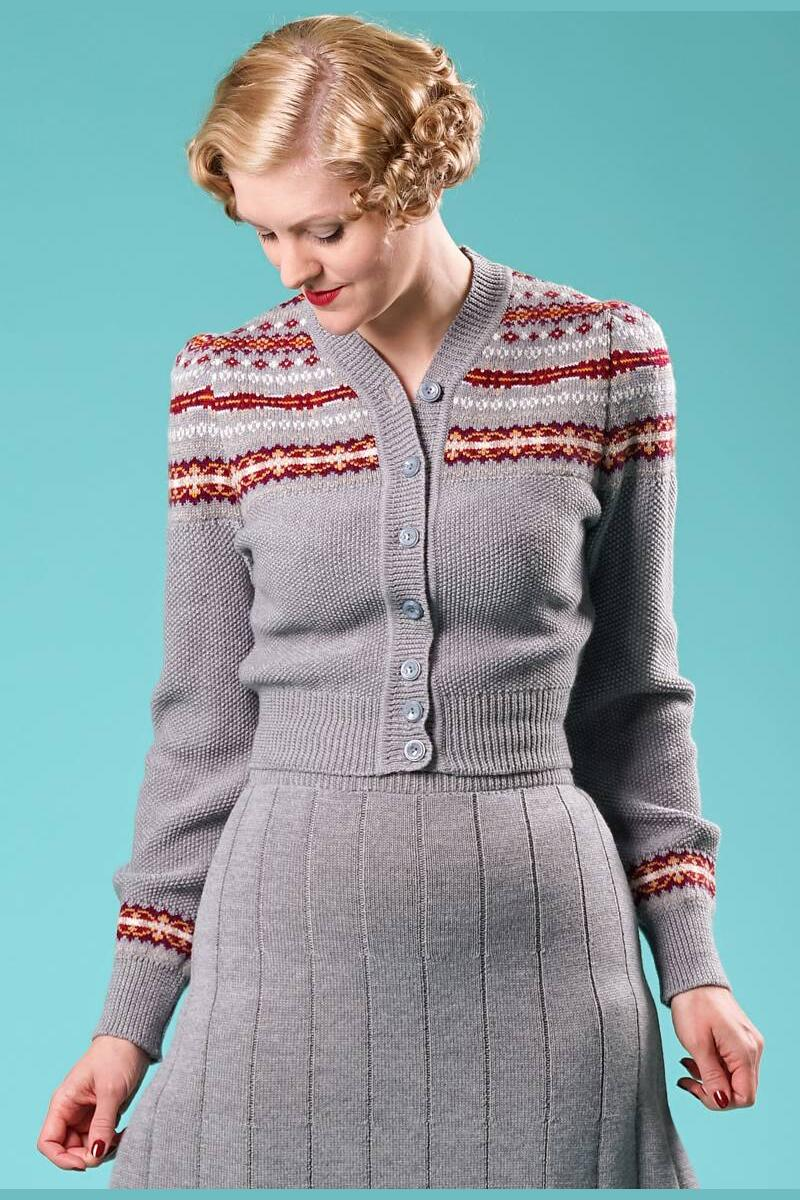 Emmy Fair Isle cardigan Grå/multi