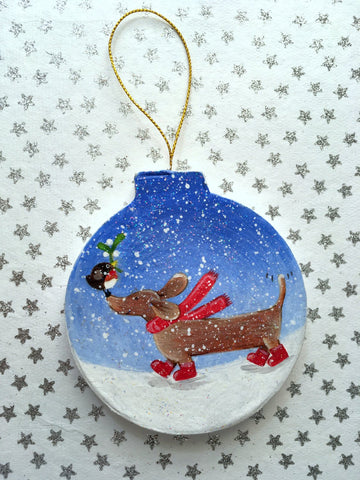 Dachshund Christmas Decoration - Sausage Dog Decoration