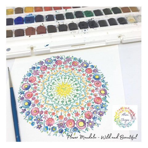 Flower Mandala - Little seed - A5 Print