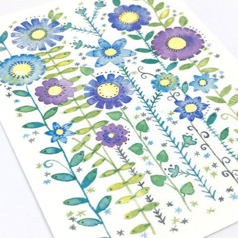 ACEO Flower Print, Wild And Beautiful