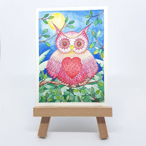 "Mini Owl Will Always Love You Print - ACEO Size - 2.5""x3.5"""