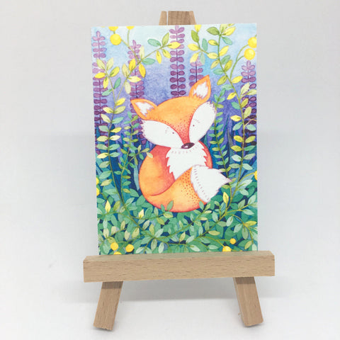 "Mini Fox Print - ACEO Size - 2.5""x3.5"""