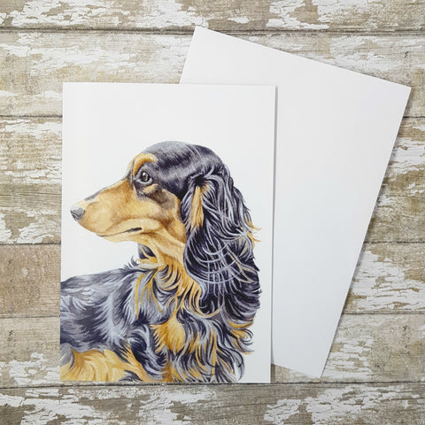 Dachshund Greetings card - Sausage Dog Birthday Card