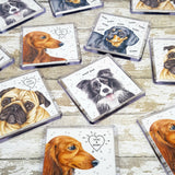 Dachshund Magnet - Long Haired Dachshund Art