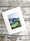Whitstable Beach Huts - Whitstable Print - Beach Huts Print Mounted With Wooden Display Easel