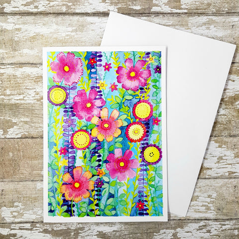 Wild And Beautiful Greetings Card - Flower Card