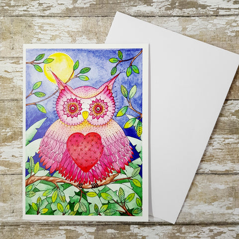 Owl Greeting Card - Owl Birthday Card