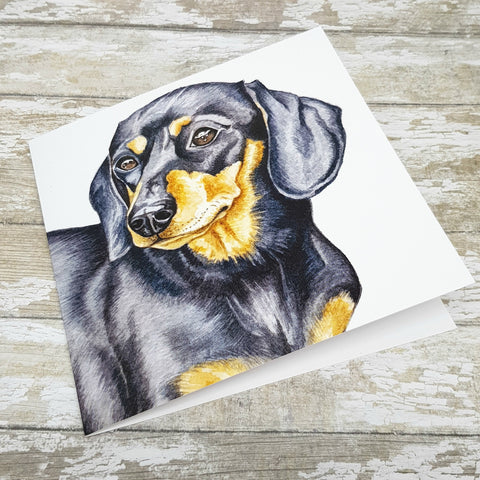 Dachshund Greetings Card - Sausage Dog Greetings Card