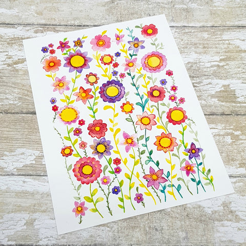 Flower Watercolour Print - Flower Painting