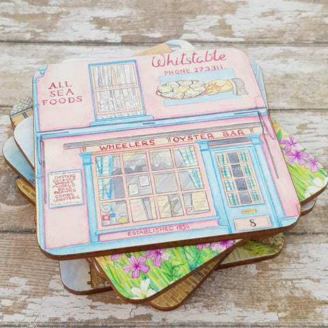 Wheelers Whitstable Coaster - Cup Mat