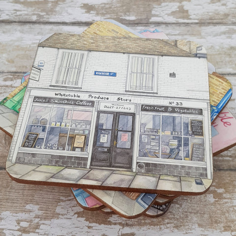 Whitstable Produce Store Coaster - Cup Mat