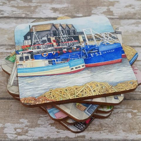 Whitstable Harbour Coaster - Cup Mat