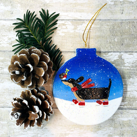 Dachshund Christmas Decoration - Sausage Dog