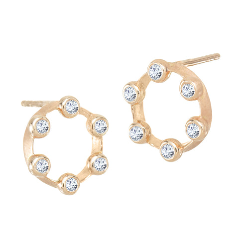 "Mini ""Hoopla"" Circle Stud Earrings"