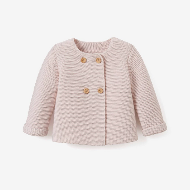 Chalk Pink Knit Baby Cardigan