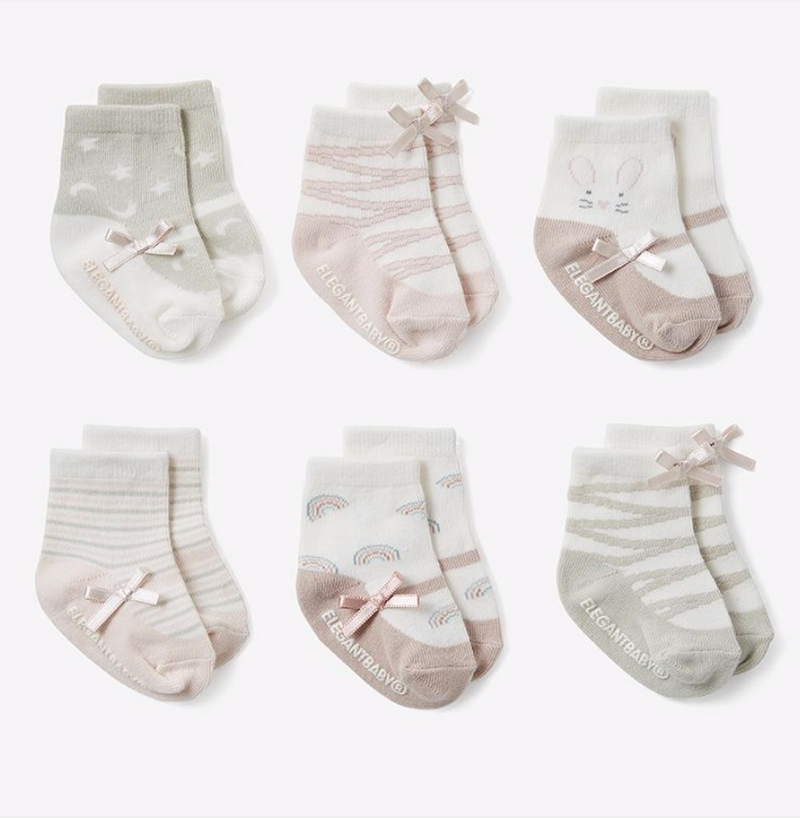 Pink Mary Jane Socks 6PK