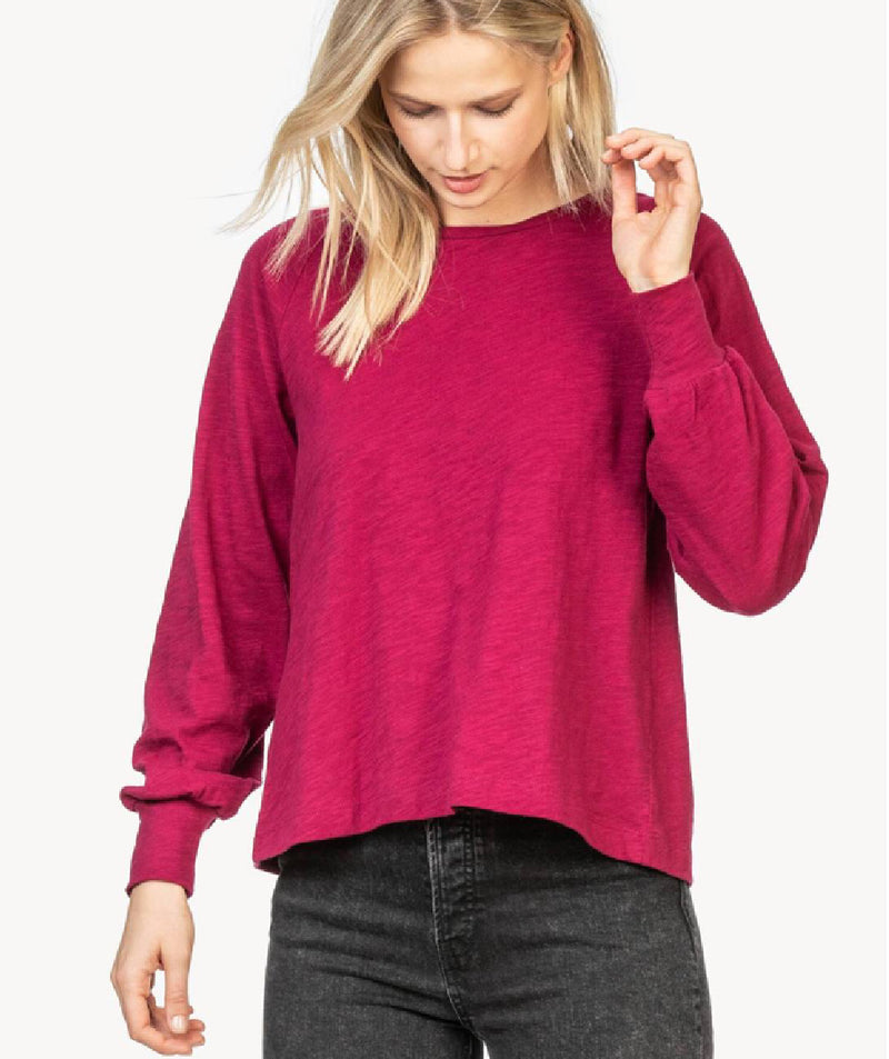 Lilla P Full Sleeve Pleat Back Tee