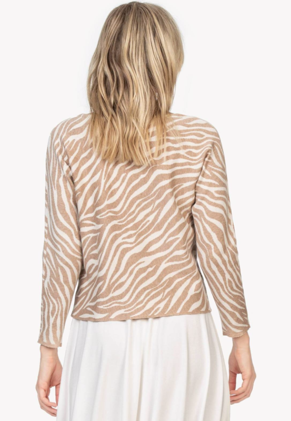 Lilla P Animal Print Dolman Sweater