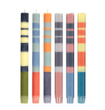 "BCS Striped 10"" Taper Candles - Mixed Pack Of 6"