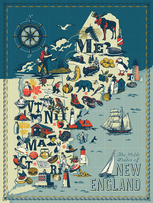 New England Illustrated Puzzle