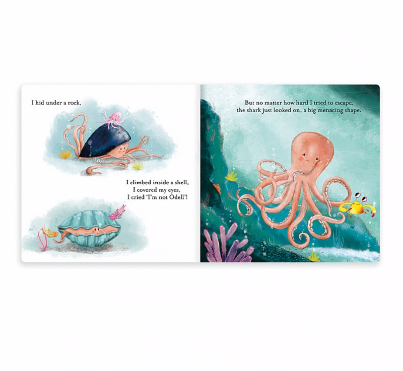 "Jellycat ""The Fearless Octopus"" Book"