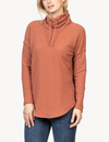 Lilla P Dropped Shoulder Cowl Neck Top