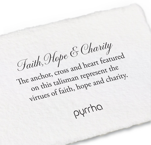 Pyrrha Faith, Hope, & Charity Talisman