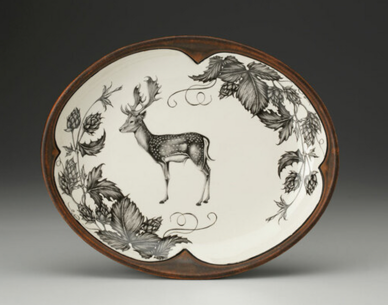 Fallow Buck and Hops Small Serving Dish