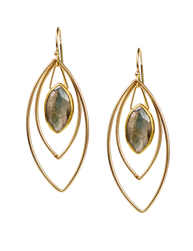 Halley Labradorite Earrings
