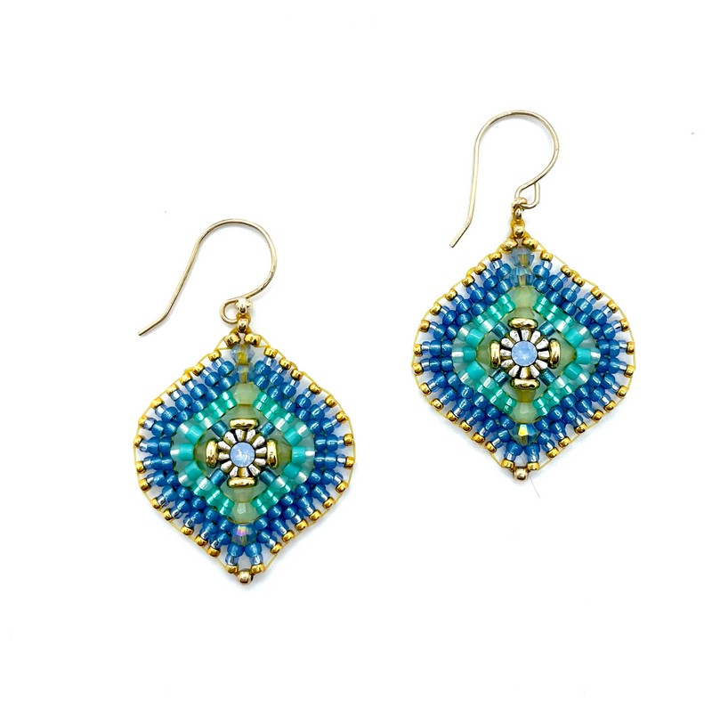 Amazonite and Mint Marrakech Drop Earring