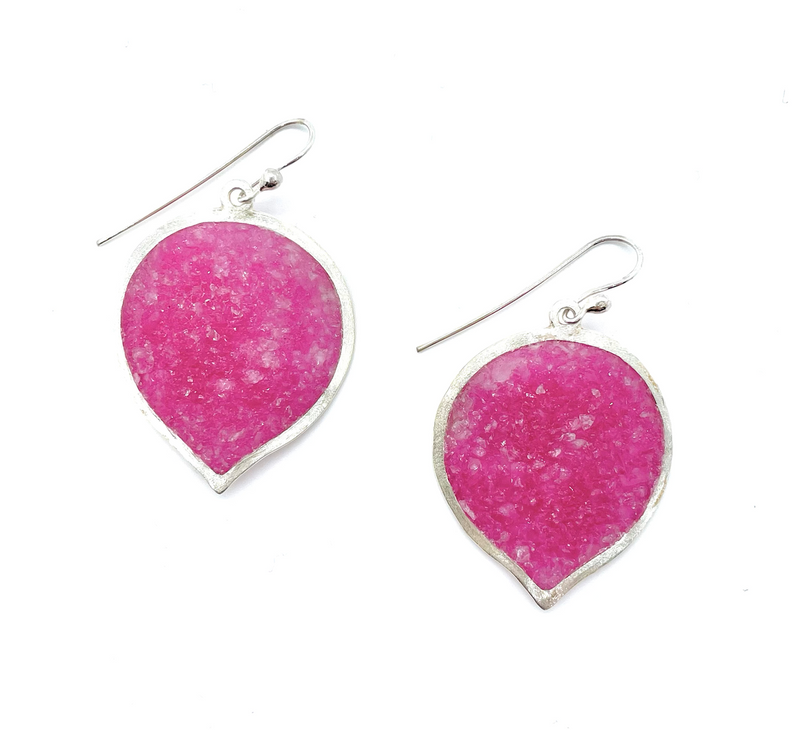 Balloon Pink Quartz Earrings