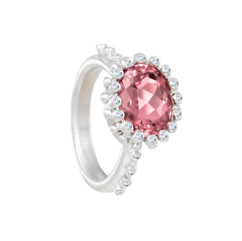 "Pink Tourmaline ""Princess"" Ring"