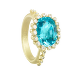 "Blue Zircon ""Princess"" Ring"