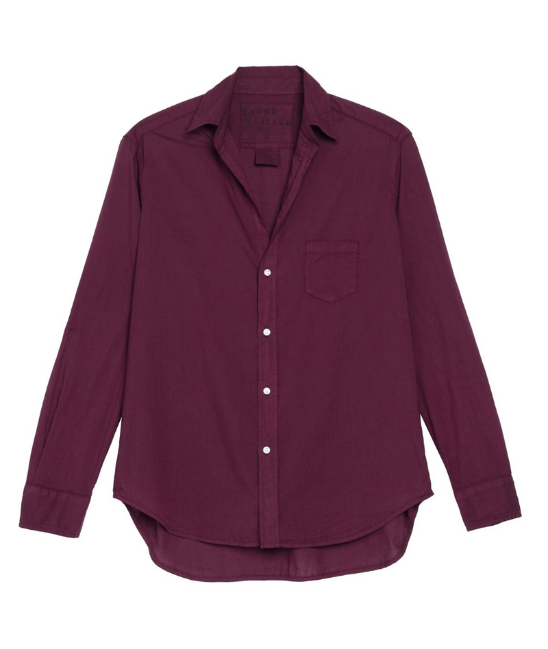 Frank & Eileen Featherweight Plum Cotton Eileen Shirt