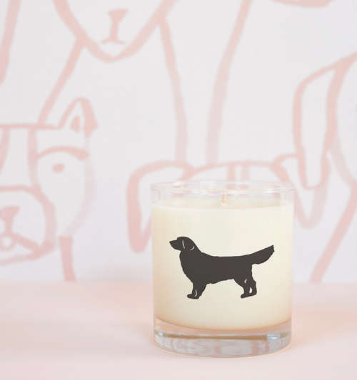 Golden Retriever Dog Soy Candle