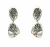 Double Drop Crystal Impression Earrings