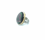 Jamie Joseph Black Mother of Pearl & Diamond Ring