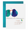 Lovebirds Anniversary Card