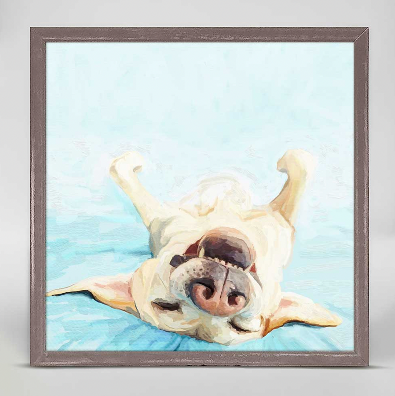 Yellow Lab Dreams... Mini Framed Canvas