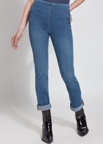 Lyssé Mid-Wash Boyfriend Denim