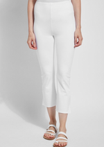 Lyssé White Cropped Kick Flair Pant