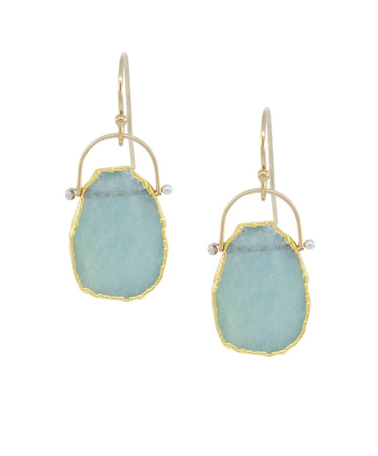 Wave Aquamarine Earrings