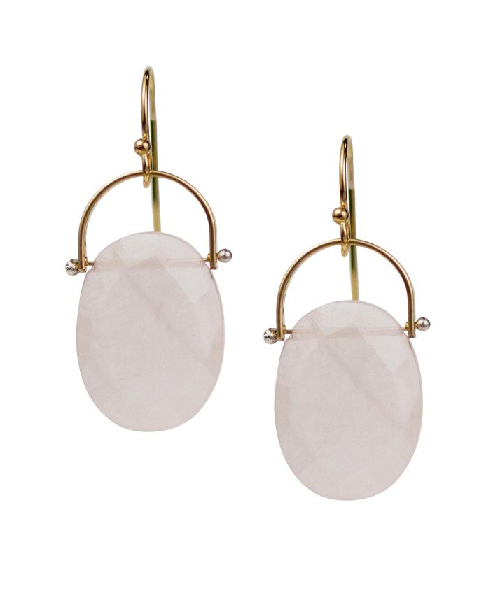 Burnet Rose Quartz Earring