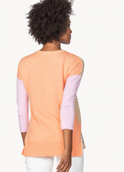Lilla P Colorblock V-Neck Sweater