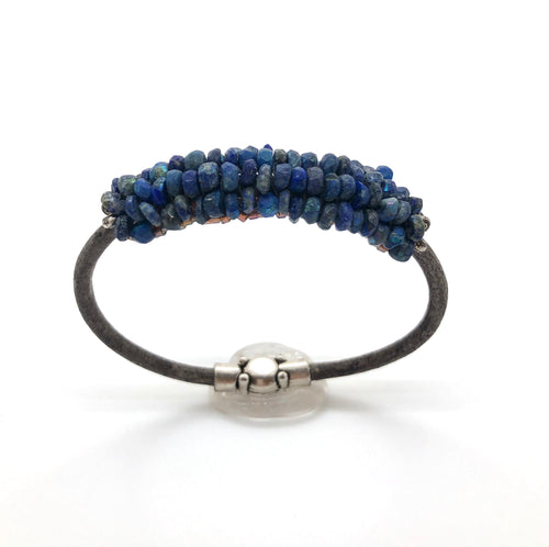 Lapis Leather Bracelet